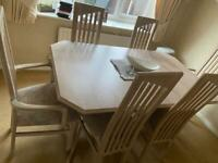 Solid Wood Extending Dining Table (+ 6 chairs)