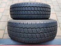 """Almost new 5 month old 16"""" van tyres"""