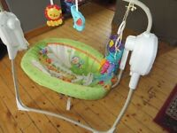 fisher price rainforest spacesaver cradle swing