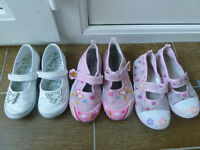 3 pairs girls shoes size 10