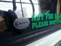 EMPI VW window wing mirror decal sticker
