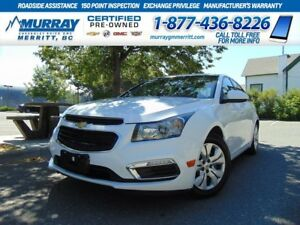 2015 Chevrolet Cruze LT 1LT**Bluetooth, Rear View Camera, OnStar