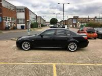 2008 BMW 5 SERIES 520D M-SPORT AUTO –LOW WARRANTED MILEAGE, BLACK Diesel Automatic, NEW MOT, SAT NAV