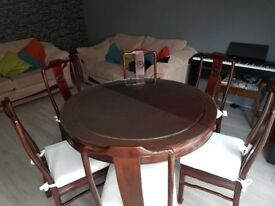 Chinese style rosewood table and chairs