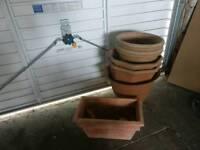 Plant pots assorted sizes
