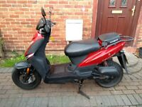 2007 Kymco Agility 50 scooter, MOT, automatic, runs well, cheap insurance, bargain,,,,,