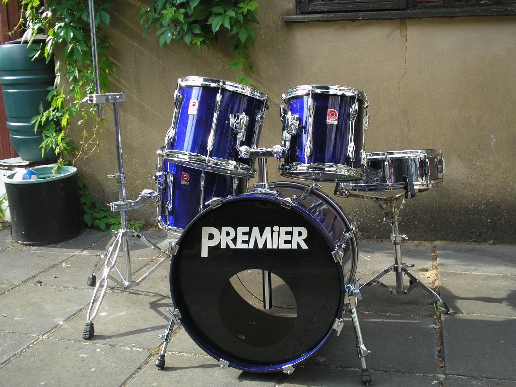 Vintage Premier Xpk Purple Blue Stain Kit Snare Associated