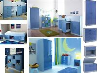 Gloss Blue/Pink Boys/Girls Bedroom Furniture Wardrobe/Beds/Chest Drawers/Bedsides/Storage From £ 39