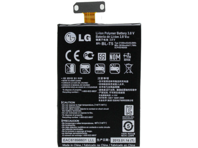 New Genuine Capacity BL-T5 Replacement BL T5 Battery For LG Nexus 4 E960 2100mAh