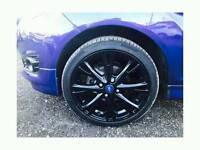"""4x 17"""" black ford fiesta Alloys wheels with continental tyres absolute bargain"""