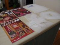 4 Plastic Canvas Craft Books and Plastic Canvas Sheets
