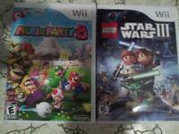 mario party 8 and lego star wars 3 $30 for both