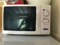 Working microwave oven