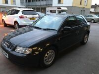 Audi A3 Automatic Low MIles only 58K, 2 previous owners, 1.8 Petrol Black 3 Door new MOT