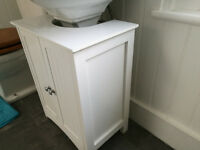 Two Free Standing Bathroom Cabinets in White