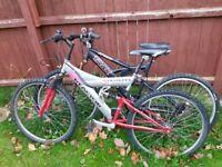 2 x mountain bikes