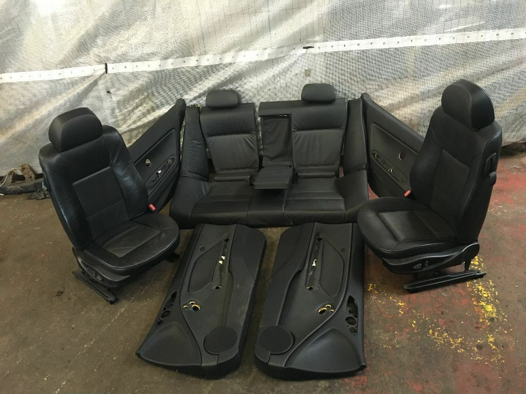Bmw Seats Replacement : Bmw e ci coupe black leather interior heated electric