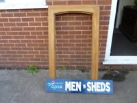 Hardwood casement window men in sheds