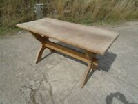Rustic Solid Oak Table Very Nice Needs A Little TLC Delivery Available.