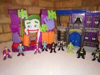 Selection of Batman toys