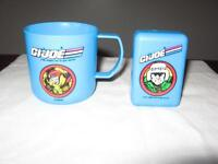 Vintage! 1991 GI Joe Child's Plastic Bathroom Set