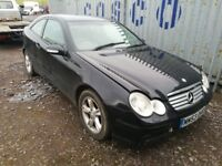 Mercedes c180 compressor coupe 2004 year petrol breaking