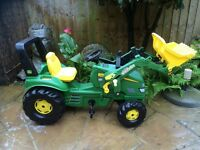 Childrens Ride-on John Deere Tractor with Front Loader