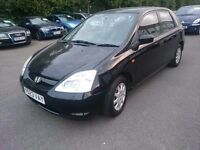 2001 HONDA CIVIC 1.4...5 DOOR...CAMBELT CHANGED
