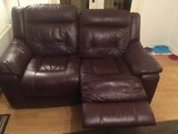 3 + 2 leather sofa ( recliners )