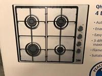 Cooker 4 hob new BEKO Gas QHG64X Built in