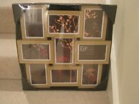 Photo Frames Nine 6 by 4 frames in wood effect display. Still packaged