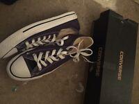 Blue converse size 7
