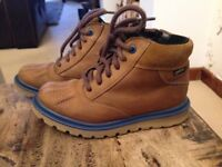 Clarks Boys Tan Leather Goretex Boots - 11G