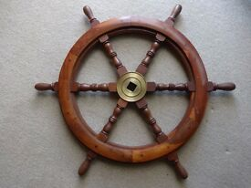Wooden Ships Wheel - wall mounting
