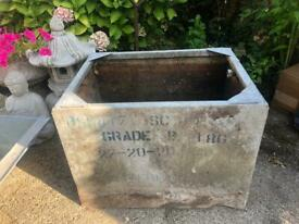 Galvanised Planter/water feature