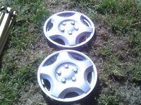 caravan wheel trims silver size 13 inch