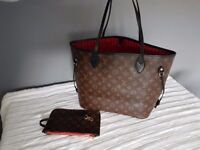 New Louis Vuitton Neverfull LV MM Woman's Hand Bag Leather 2017