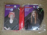 Halloween Adult Wig with horns or streaks x 2