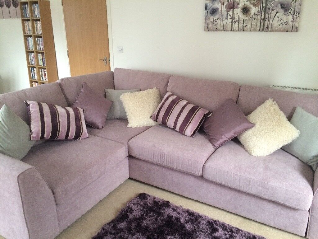 DFS Lilac Corner Sofa Fab Condition