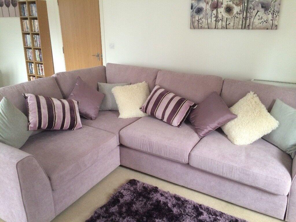 Dfs Lilac Corner Sofa Fab Condition