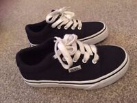 Genuine Black Vans Canvas Shoes Kids - Size 11.5 - Used in Excellent Condition