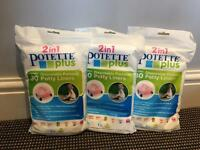 Potette Plus Disposable Liners 30 pack x 3
