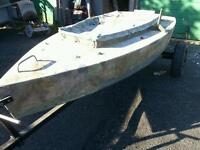 Punt boat for sale with trailer
