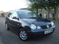 VOLKSWAGEN POLO 1.4 TDI PD,5 DR,FULL SERVICE HISTORY,NEW TIMING BELT KIT,126.095 Miles,GENUINE MILES