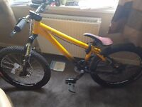 Giant tps yellow/black stunt downhill hardtail mountain bike forsale or swaps for big tv