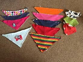 Bundle of dribble bibs