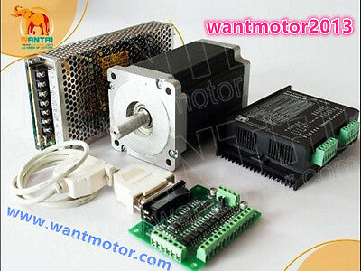 Free Shipcnc Kit Wantai 1axis Nema34 Stepper Motor 1700oz-in 6adriver350w