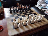 Marble & onyx chess set