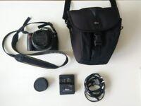 Nikon D3000 DSLR Camera + AF-S DX VR G 18-55mm Lens + Holga Lens + Pouch