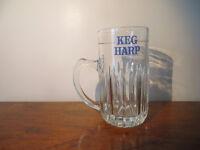 Vintage Harp lager Beer Half Pint Beer Glass Irish Brewania. Home Bar